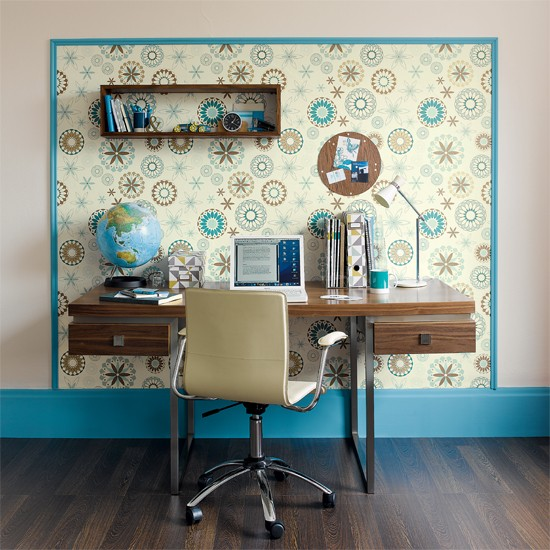 Home office wallpaper ideas 2017 grasscloth wallpaper for Home wallpaper designs for living room