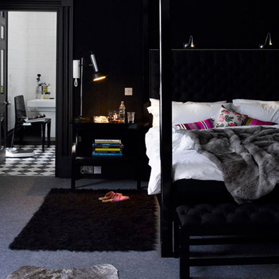Black gloss bedroom | Bedroom | Bedroom design ideas best of 2010 | PHOTO GALLERY