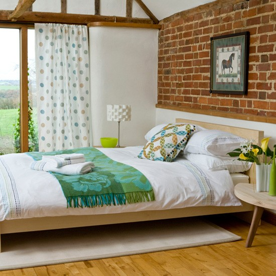 bedroom design ideas best of 2010 country exposed wall
