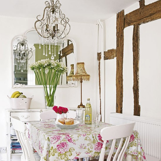 Country Style Floral Dining Room Dining Rooms Dining