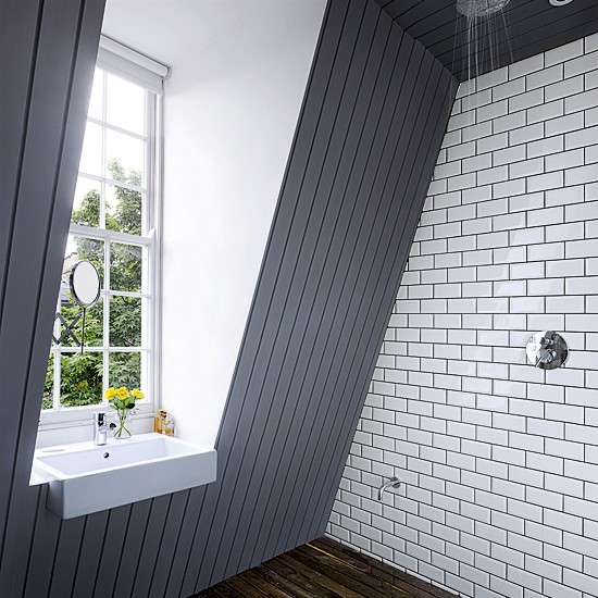 Modern wetroom | Small bathrooms | Loft conversions | Image | Housetohome