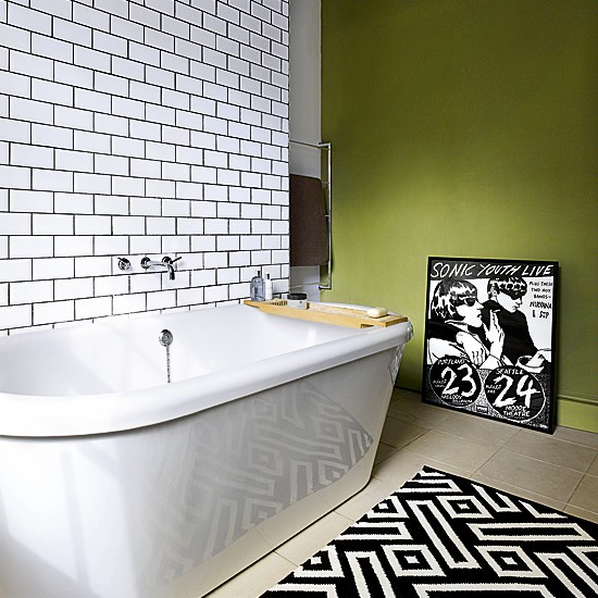 Green and white bathroom | Small bathrooms | Baths | Image | Housetohome