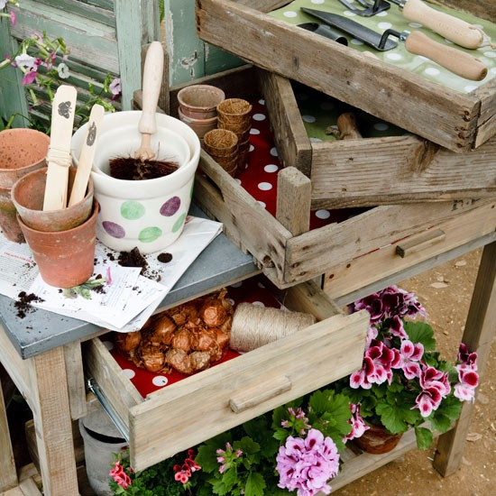 Storage with oilcloth lining | Country garden design | Garden buys | Garden | PHOTO GALLERY | Housetohome
