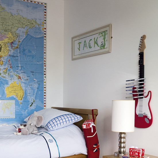 Modern boy's bedroom | Children's beds | Wall map | Image | Housetohome