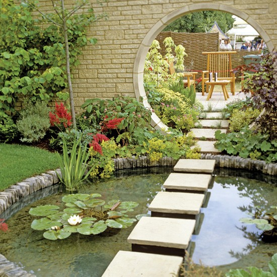 Insureblog health wonk review spring hath sprung edition for Garden design ideas with pond