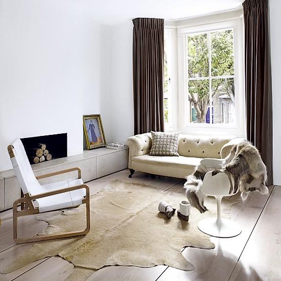 Natural living room | Living room designs | White sofas | Image | Housetohome
