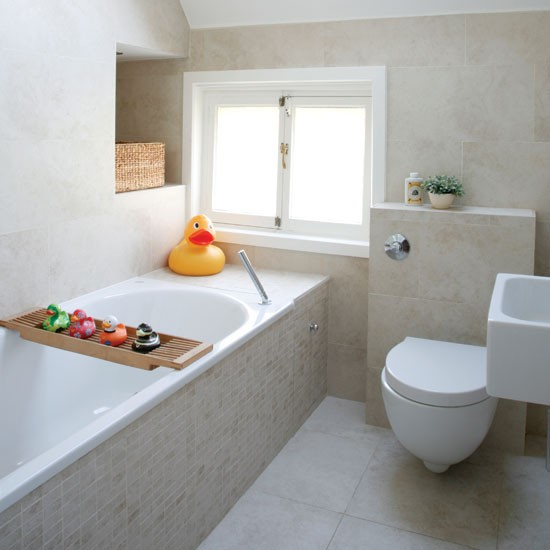 Small neutral bathroom Tips for small bathrooms