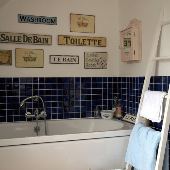 Quirky bathroom display small bathroom design ideas for Small bathroom ideas uk
