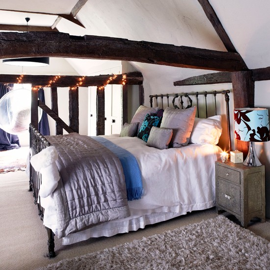 Country attic bedroom | Bedroom designs | Metal bedsteads | Image | Housetohome