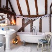 Country attic bathroom