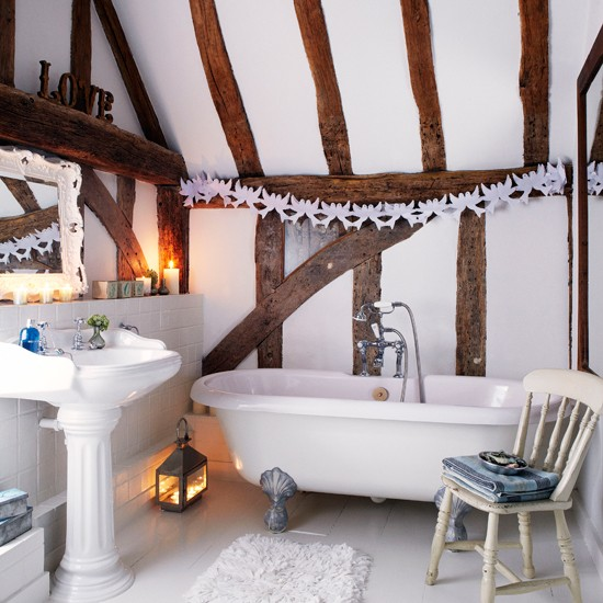 Country attic bathroom | Bathroom designs | Freestanding baths | Image | Housetohome
