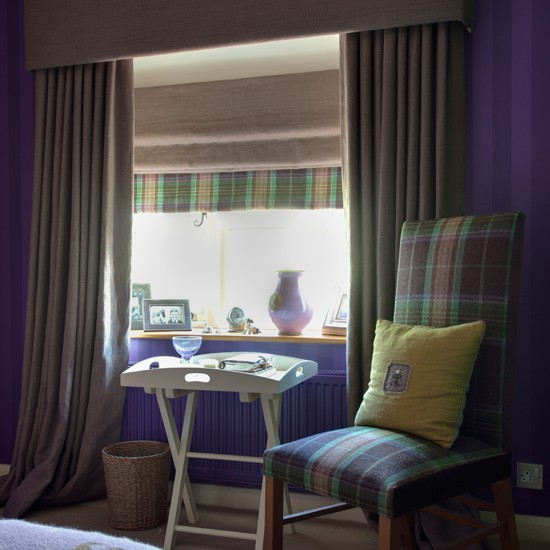 Classic purple bedroom | Bedroom designs | Bedroom chairs | Image | Housetohome
