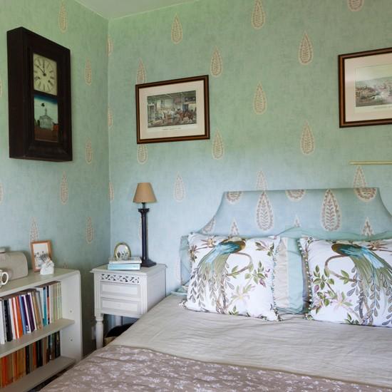 Soft blue bedroom