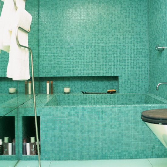 Spa style turquoise mosaic bathroom tiles bathroom tile Bathroom tile ideas mosaic