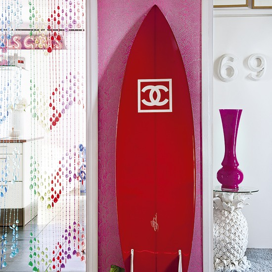 Quirky hallway | Hallway designs | Pink wallpaper | Image | Housetohome