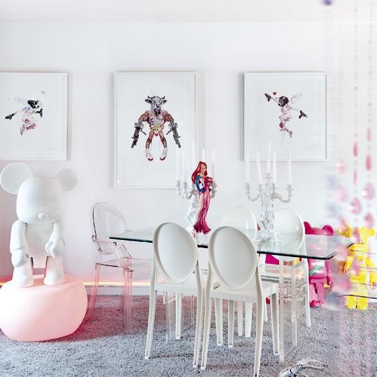 White dining room modern furniture