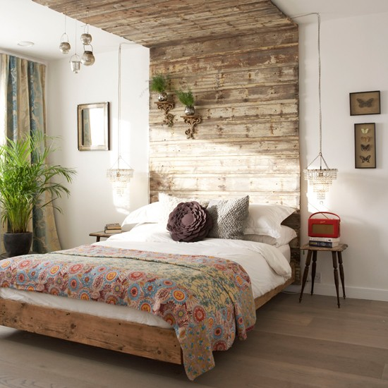 Rustic bedroom | Bedroom decorating ideas | Headboards | Image | Housetohome