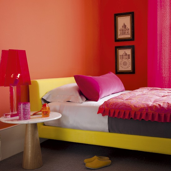 Vibrant bedroom | Colourful bedrooms | Paint colours | Image | Housetohome