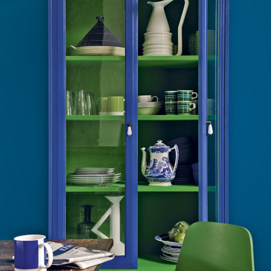 Blue And Green Dining Room Dining Room Storage