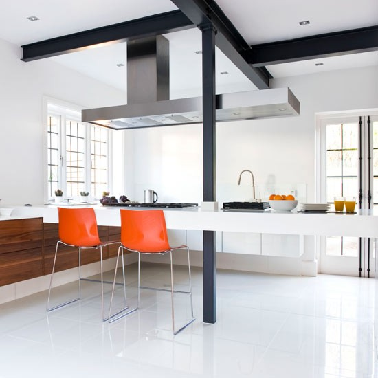 Large Open-plan Kitchen Worktop