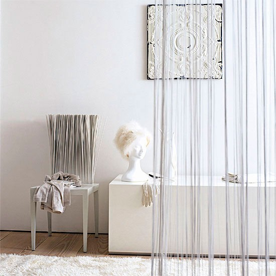 Subtle white room divider curtain room dividers 10 - Room divider curtain ideas ...