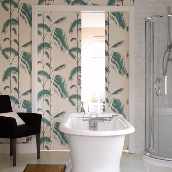 wallpaper | Bathroom wallpaper | bathroom decorating ideas| bathroom ...