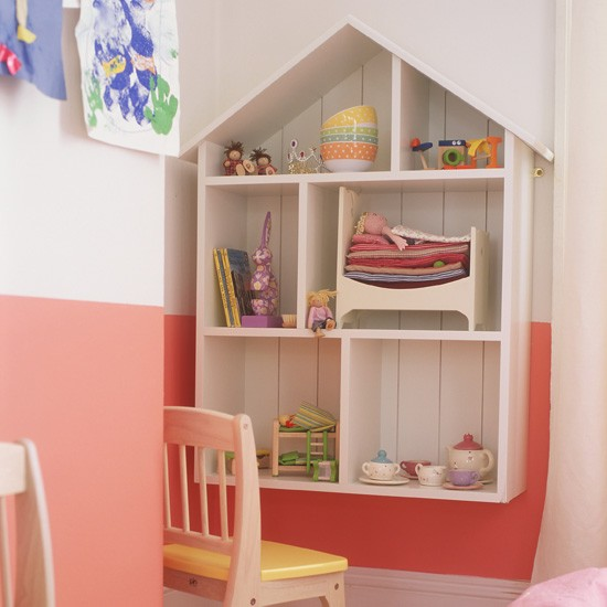 Make storage fun | Dolls house-shaped shelves | Children's room storage ideas | Funky children's storage ideas | PHOTO GALLERY