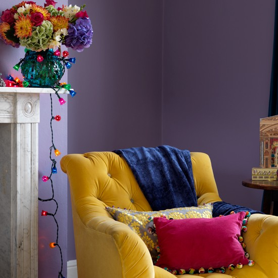 Colourful living room | Modern living rooms | Yellow armchair | Image | Housetohome