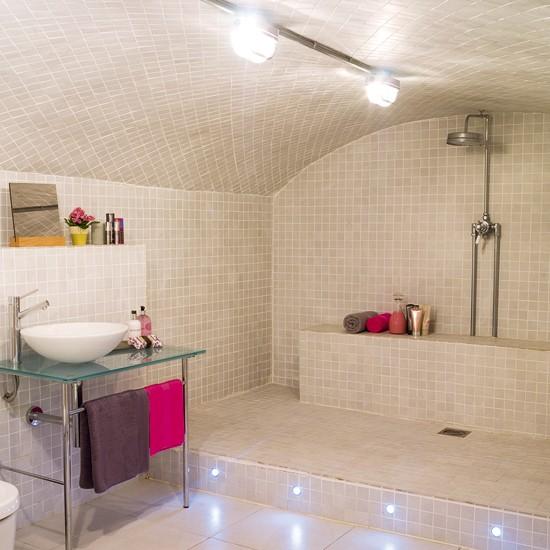 Modern neutral bathroom wet room design for Wet room bathroom design pictures