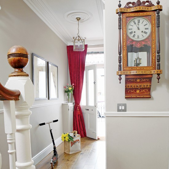Hallway take a tour around an edwardian house in dublin for Terraced house decorating ideas uk