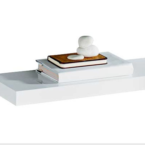 high gloss floating shelf from argos floating shelves. Black Bedroom Furniture Sets. Home Design Ideas