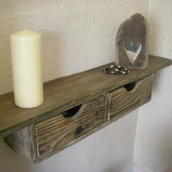 Rustic floating drawer shelf from Driftwood Interiors ...