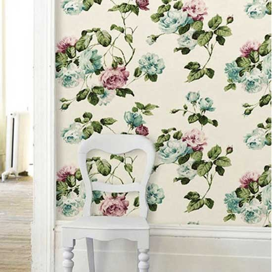 Rose wallpaper from Cath Kidston | Vintage wallpapers | Wallpaper ...