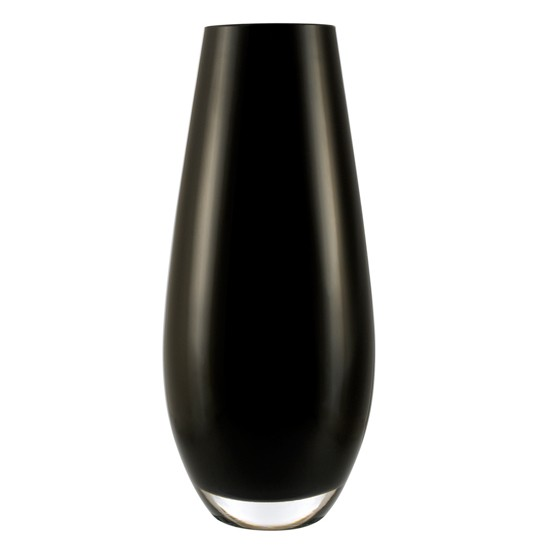 Barrel black glass vase from ASDA