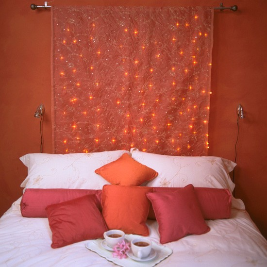 Fairy lights | Create a romantic bedroom for Valentine's Day | Valentine's Day bedroom | PHOTO GALLERY
