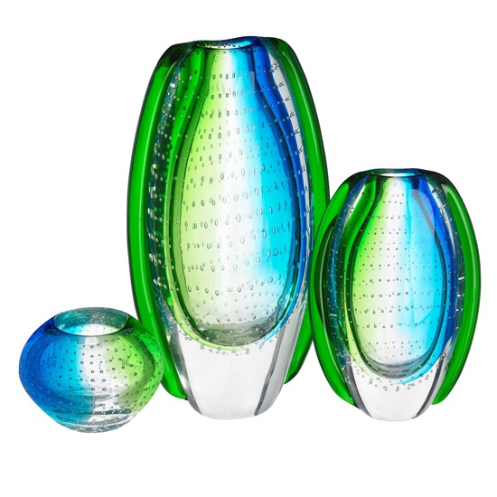 Blue and green art vases | Glass vases | Home accessories | PHOTO GALLERY | Housetohome