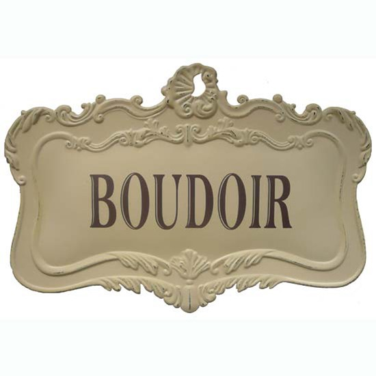 Vintage Boudoir Sign from Tiger Tiger | Vintage bedroom accessories | Vintage decorating | Vintage Bedrooms | PHOTO GALLERY