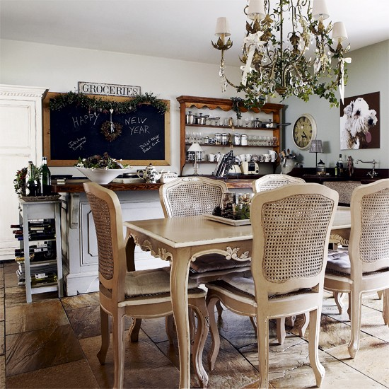 Traditional country kitchen-diner | French-style dining table | Image | Housetohome