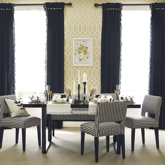 Classic dining room modern dining room housetohomecouk for Dining room wallpaper