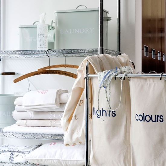 Modern utility room | Laundry room | Laundry basket | Image | Housetohome.co.uk