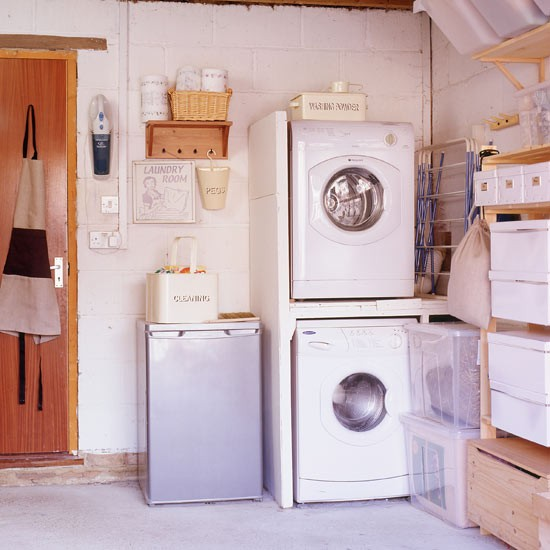 Garage utility room | Laundry room | Washing machine | Image | Housetohome.co.uk