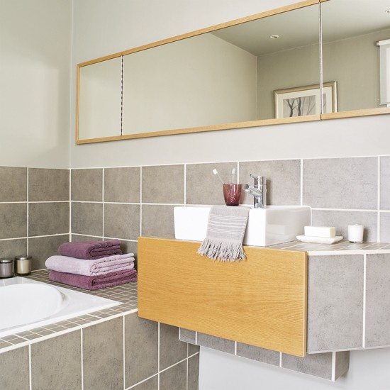 Bathroom With Grey Tiles