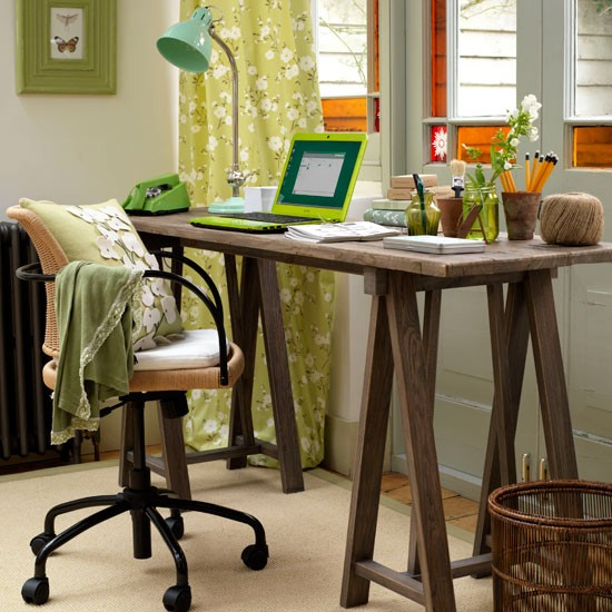 Add a desk with a view | Home office storage | Home office organising | 10 steps to an organised home office | Home office | PHOTO GALLERY | Country Homes & Interiors | Housetohome