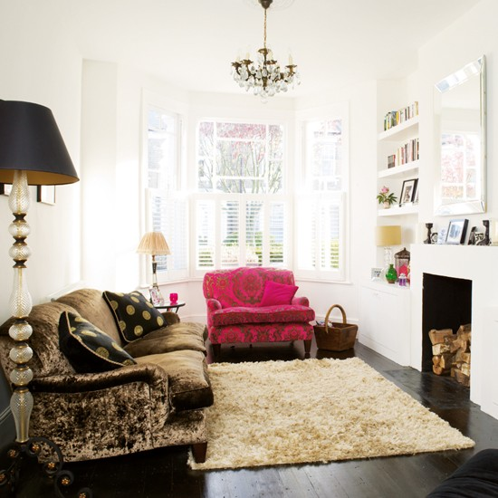 living room boho chic victorian terrace house tour