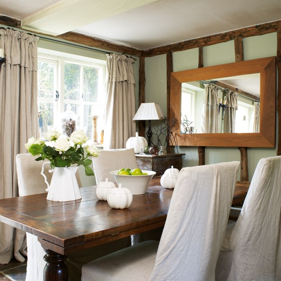Dining Room Rustic Family Cottage House Tour Ideal