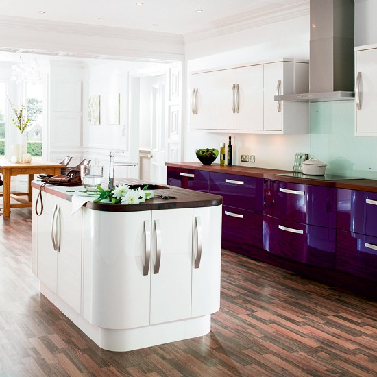 gloss kitchen  mixed finish kitchens  kitchen ideas  kitchens