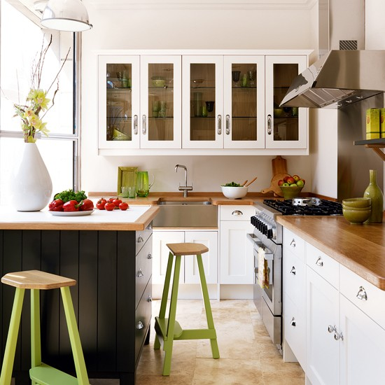 Two-shade painted kitchen from John Lewis of Hungerford | Mixed