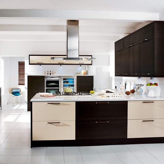 Wenge and texture kitchen from magnet mixed finish for Kitchen ideas magnet