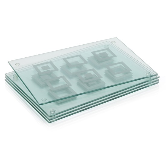 Glass geometric placemats from marks spencer placemats for Glass table placemats