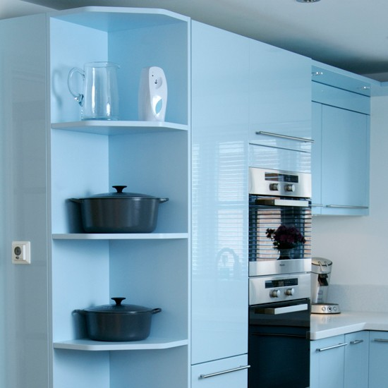 Install a cool corner best kitchen shelving ideas for Corner kitchen cabinets ideas